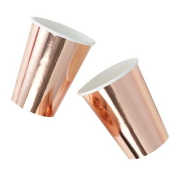 Metallic Rose Gold Paper Cups